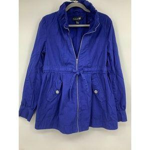 Forever 21 jacket 12 windbreaker royal blue casual